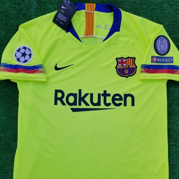 119176158 2018 19 Barcelona away soccer jersey Messi